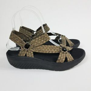 Corky's Size 8 Quickstep Woven Ribbon Sandals